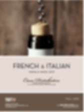 Cana French & Italian Presale ook SEPT 2