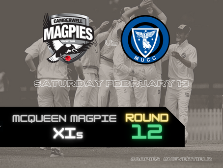McQueen Magpie XIs - Round 12 vs Melbourne University
