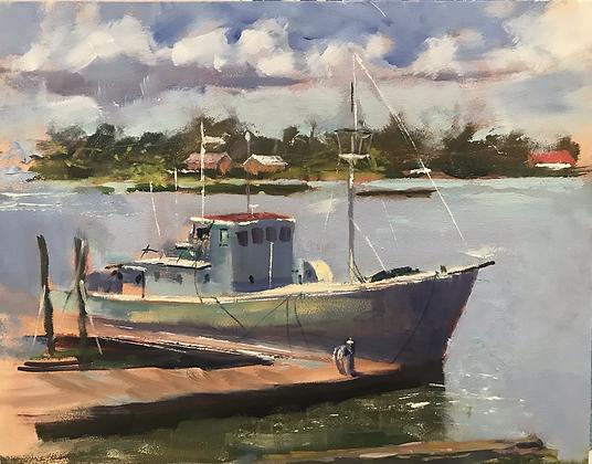 SOLD -  Old Trawler, Riberia St Boatyard