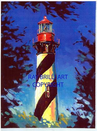St. Augustine Lighthouse, Twilight