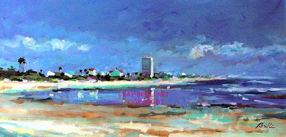Flagler Beach - Low Tide Looking North