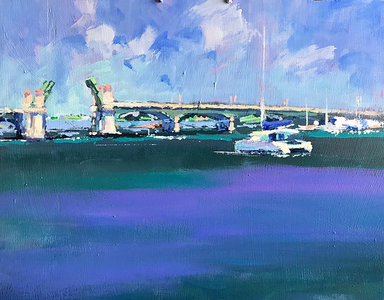SOLD - NEW BRIDGE OF LIONS SUMMER DAY