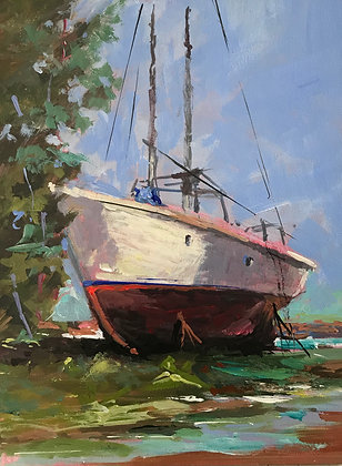 SOLD.   Old Salt, Ribera Boat Yard