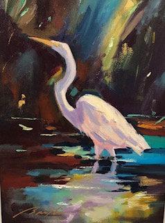 SOLD Evening Shade Egret