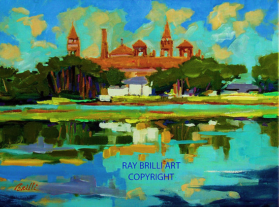 SOLD - (PRINTS AVAILABLE)Maria Sanchez Lake View of Flagler College