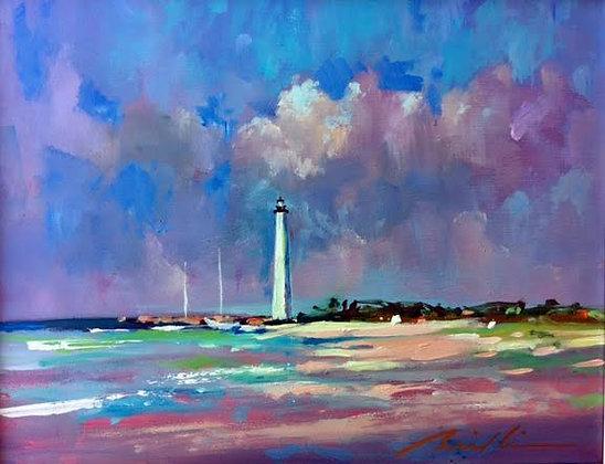 SOLD -Sunlit Morn Cape Florida Light