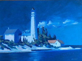 SOLD Leelanau Light Twilight