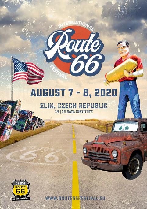 Plakát Mezinárodního festivalu Route 66  International Route 66 Festival poster