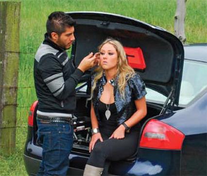 Make-up artist Gil Paz