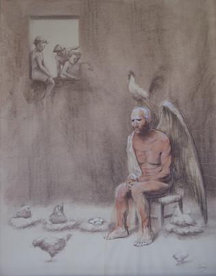 Ángel en el gallinero