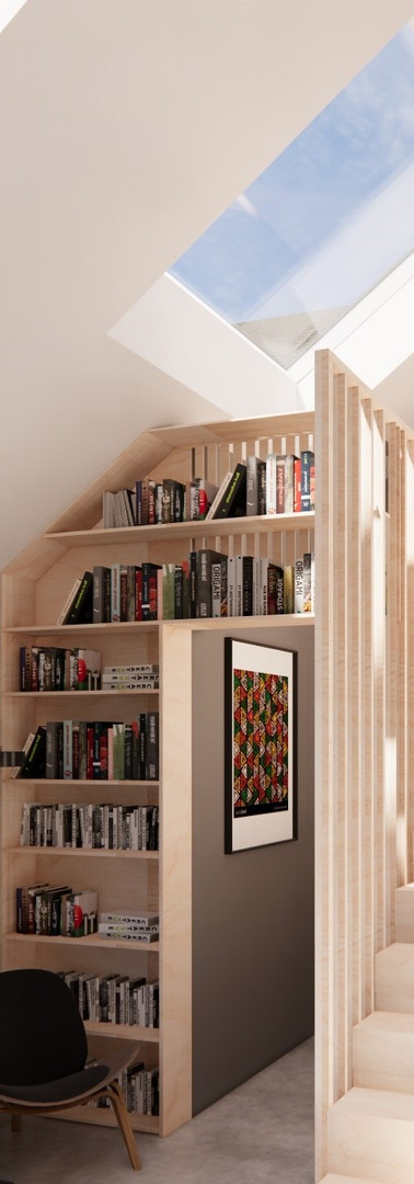 Plywood Stair Design | Cherry Architects