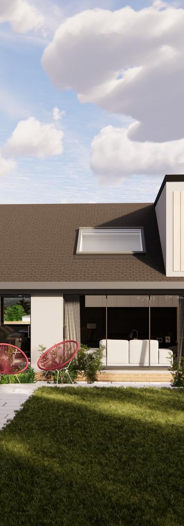 Bungalow Conversion - Rear ViewBungalow Conversion - Rear View | Cherry Architects