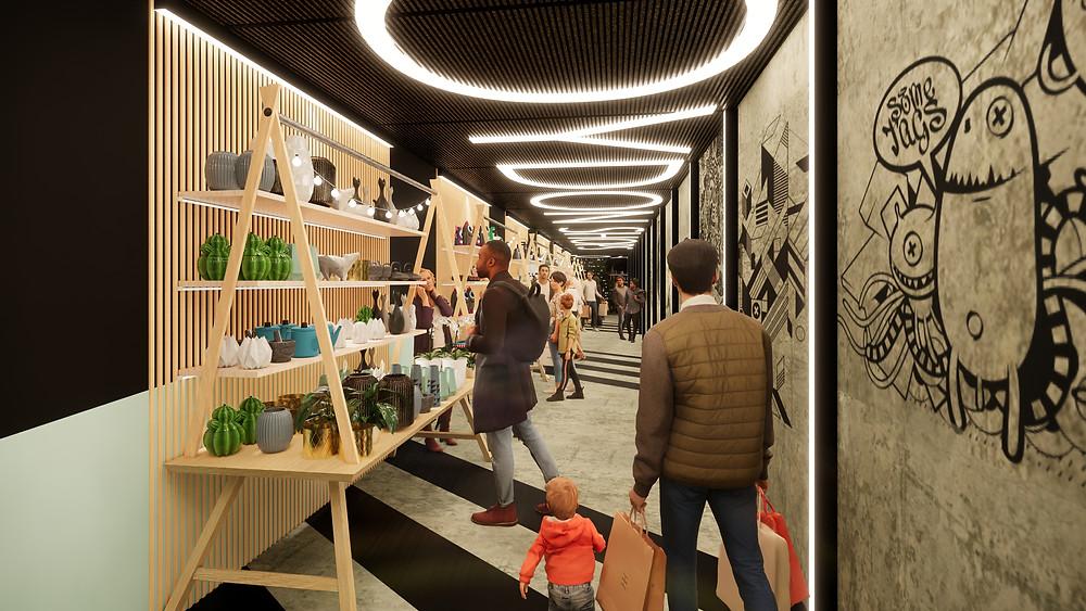Croydon Shops - Themed Market Corridor
