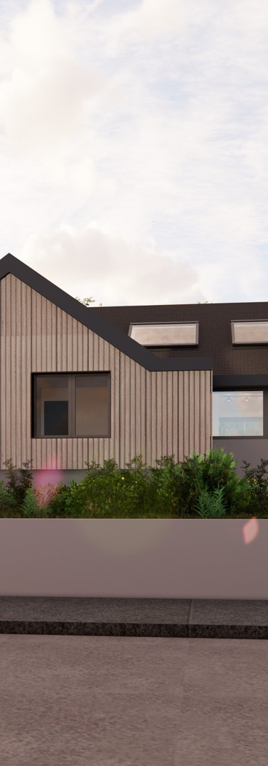 Bungalow Conversion - Front View | Cherry Architects