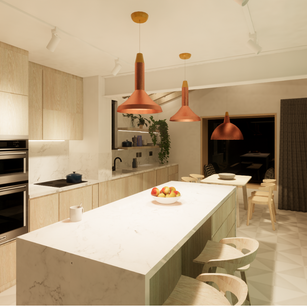 Extension with Plywood Kitchen Design