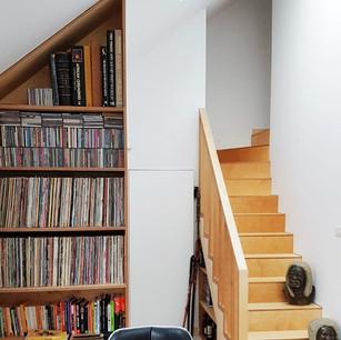 Bespoke Stair & Bookshelf Design