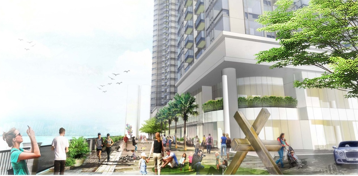 Artistic Impression of Proposed Waterfront Promenade at Street Level