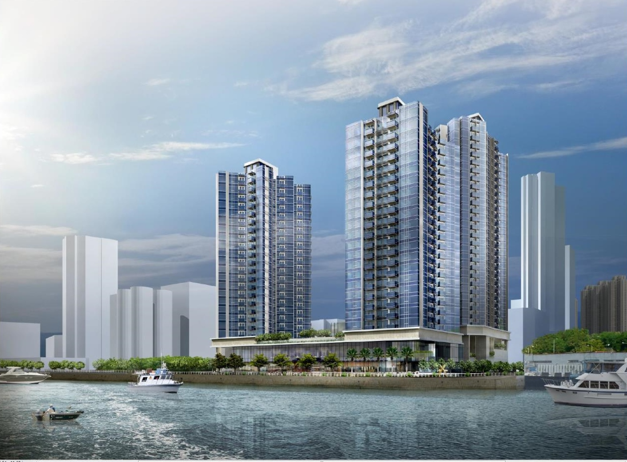 Artistic impression of Proposed Development by waterfront