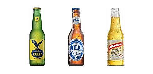 Birre venezuelane, anche colombiane disponibili. Birra Zulia, Polar, Regional e anche Club Colombia