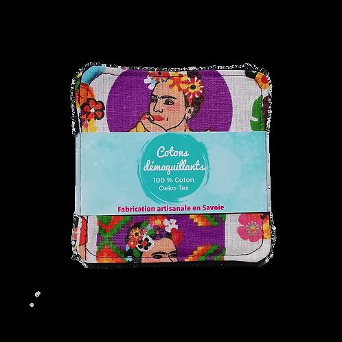 Lot de 7 cotons démaquillants - Frida Kahlo