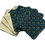 Thumbnail: Lot de 7 cotons démaquillants - Baroque bleu/jaune