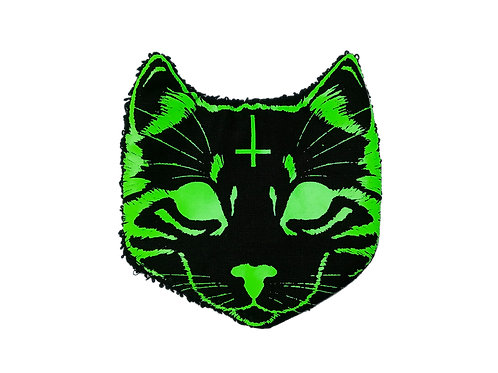 Lot de 6 chatons démaquillants -Evil Cat - Neon Green