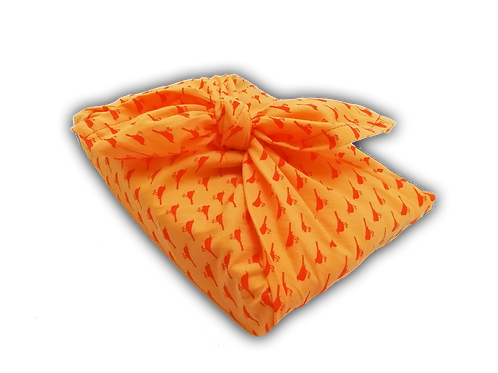 "Furoshiki ""Orange birds"""