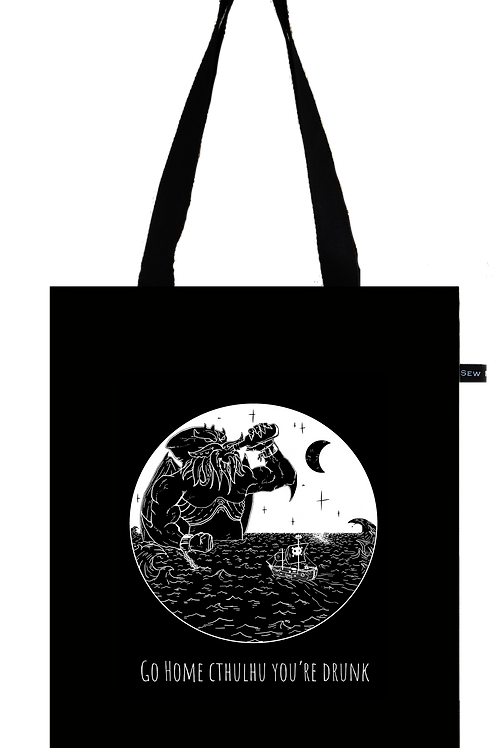 """Totebag """"Go Home Cthulhu You're Drunk"""""""