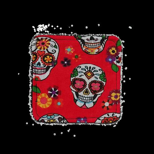 Coton Santa Muerte rouge - à l'unité