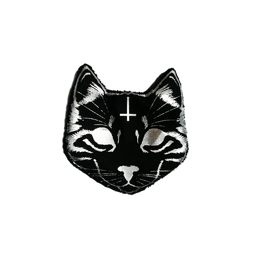 Lot de 6 chatons démaquillants -Evil Cat - Silver/Argenté