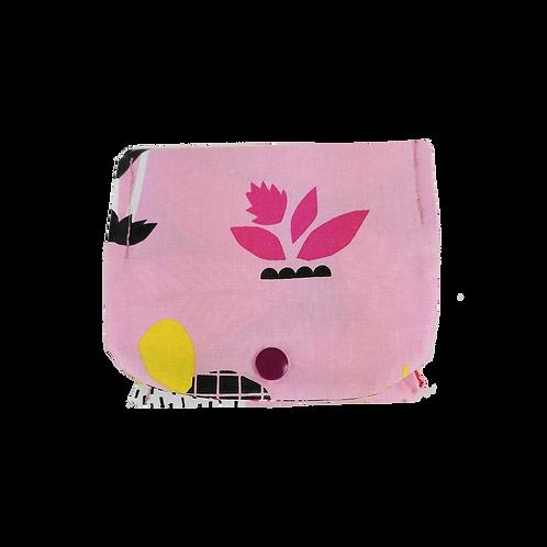 Pochette à savons imperméable - Bouton de rose