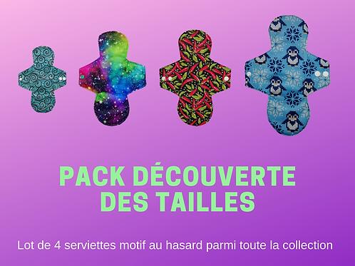 Pack découverte des tailles - Lot de 4 serviettes