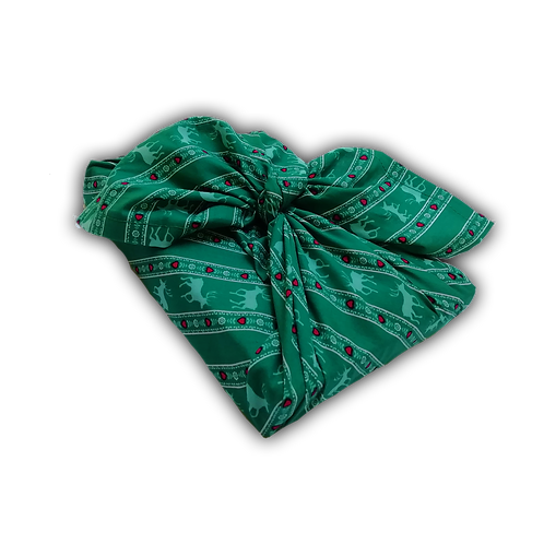 """Furoshiki """"Canadian Christmas"""" vert sapin"""