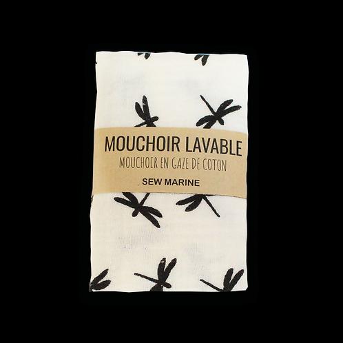 Mouchoir lavable double épaisseur - Libellules