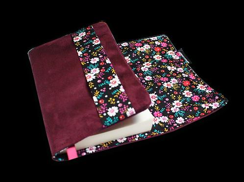 Couvre-livre de poche - Champs de fleurs