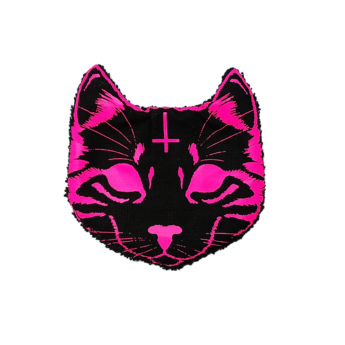 Lot de 6 chatons démaquillants -Evil Cat - Neon Pink
