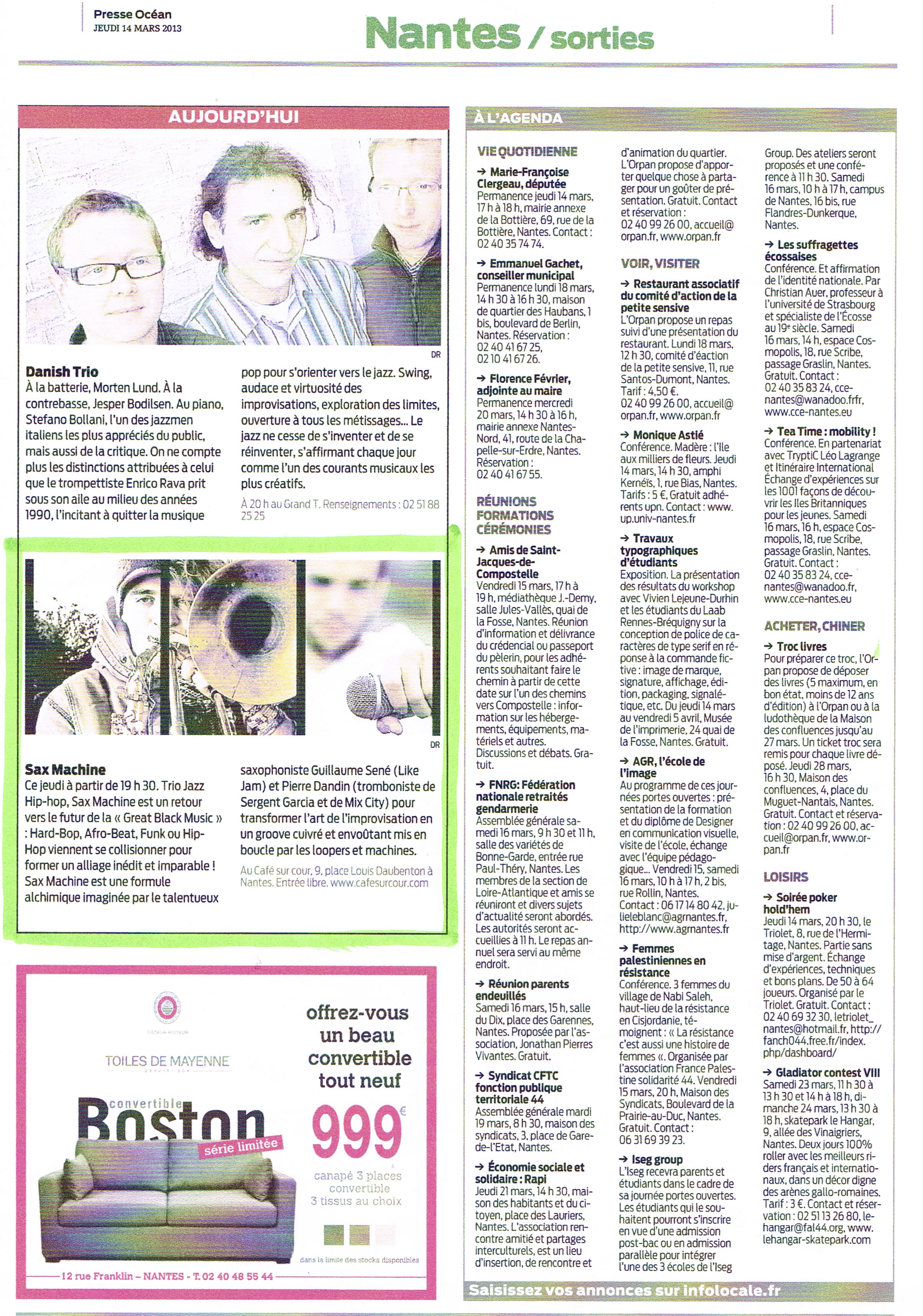 Presse Océan 14/03/13