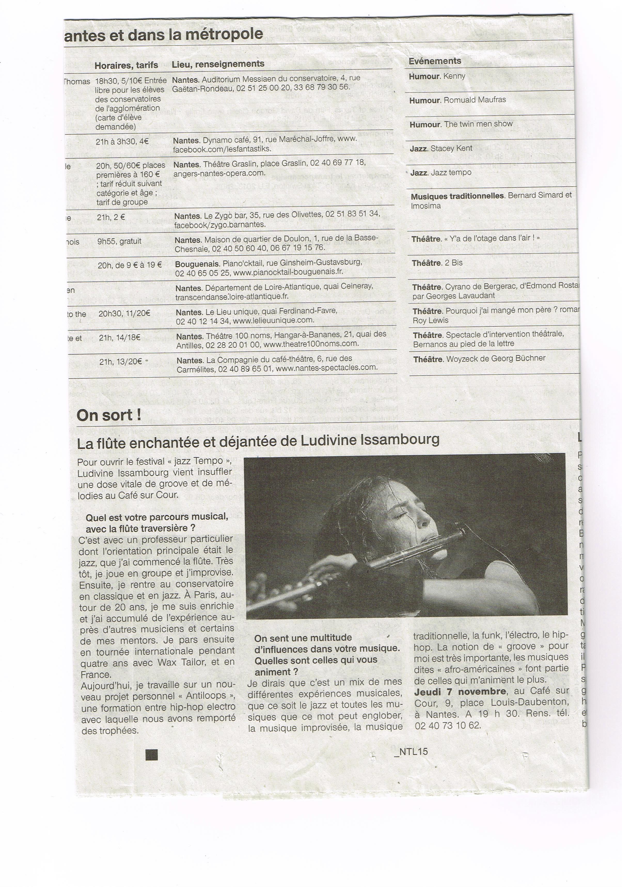 Ouest France 7 nov 2013
