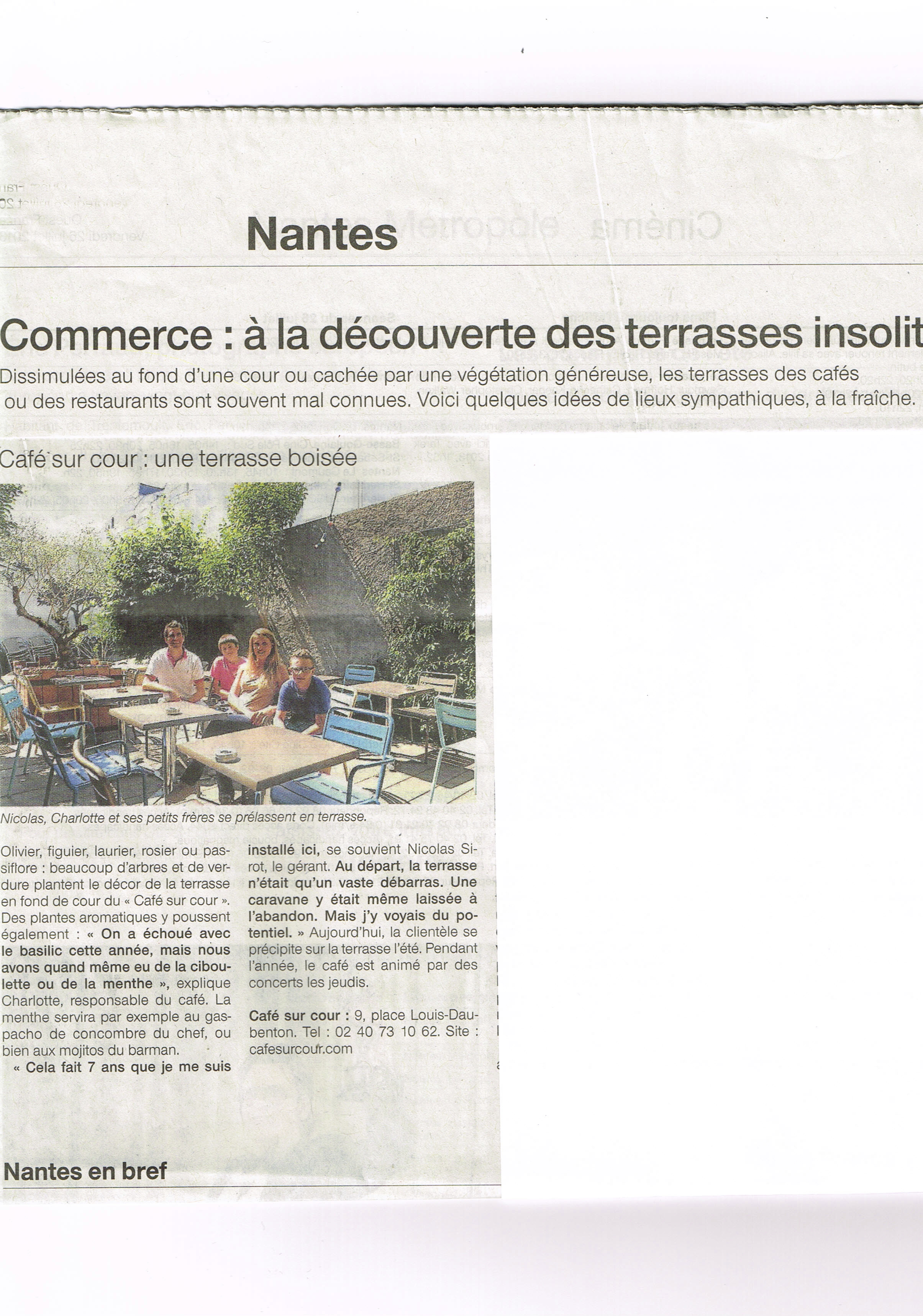 Ouest France 26 juillet 2013