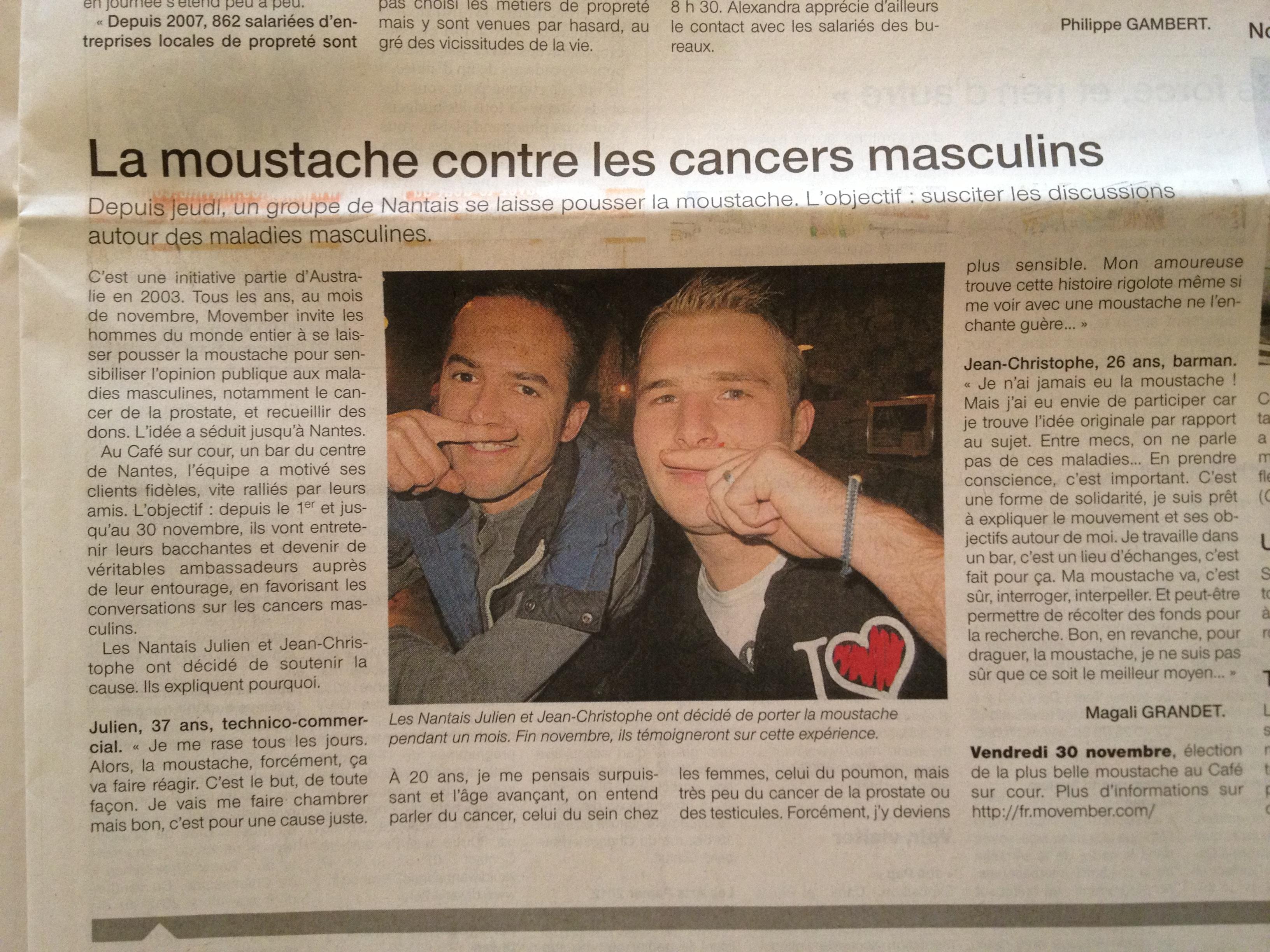 Ouest France - 5 novembre 2012