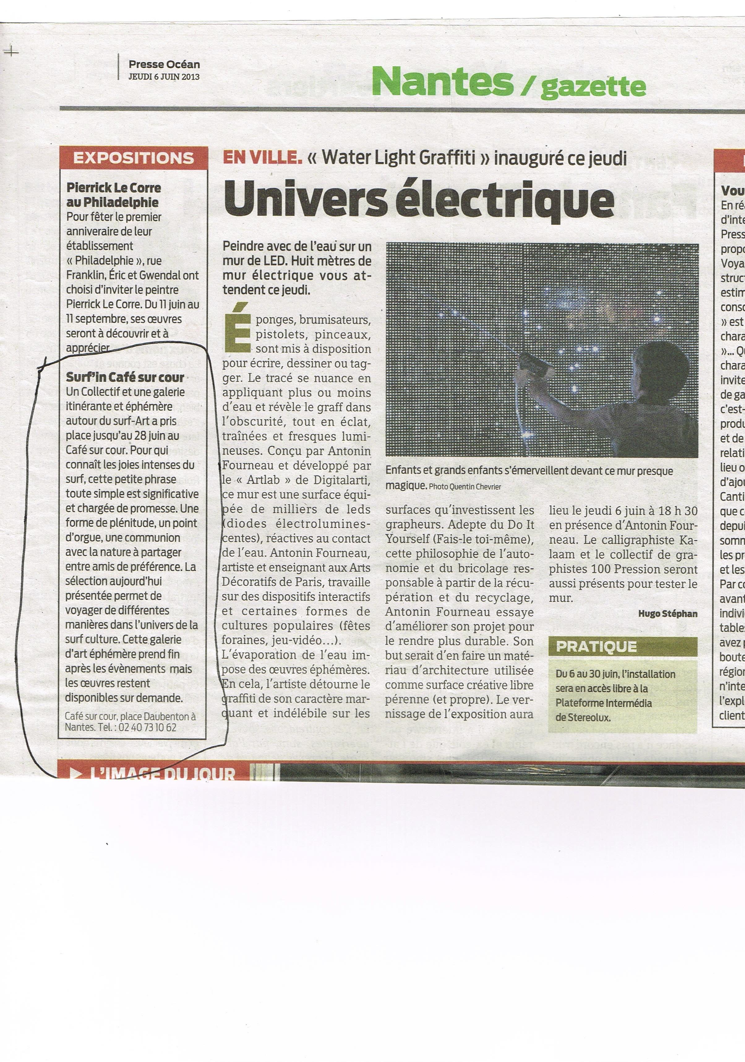Presse Océan 6 juin 2013