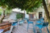 Café sur Cour, cour arborée, terrasse, brasserie
