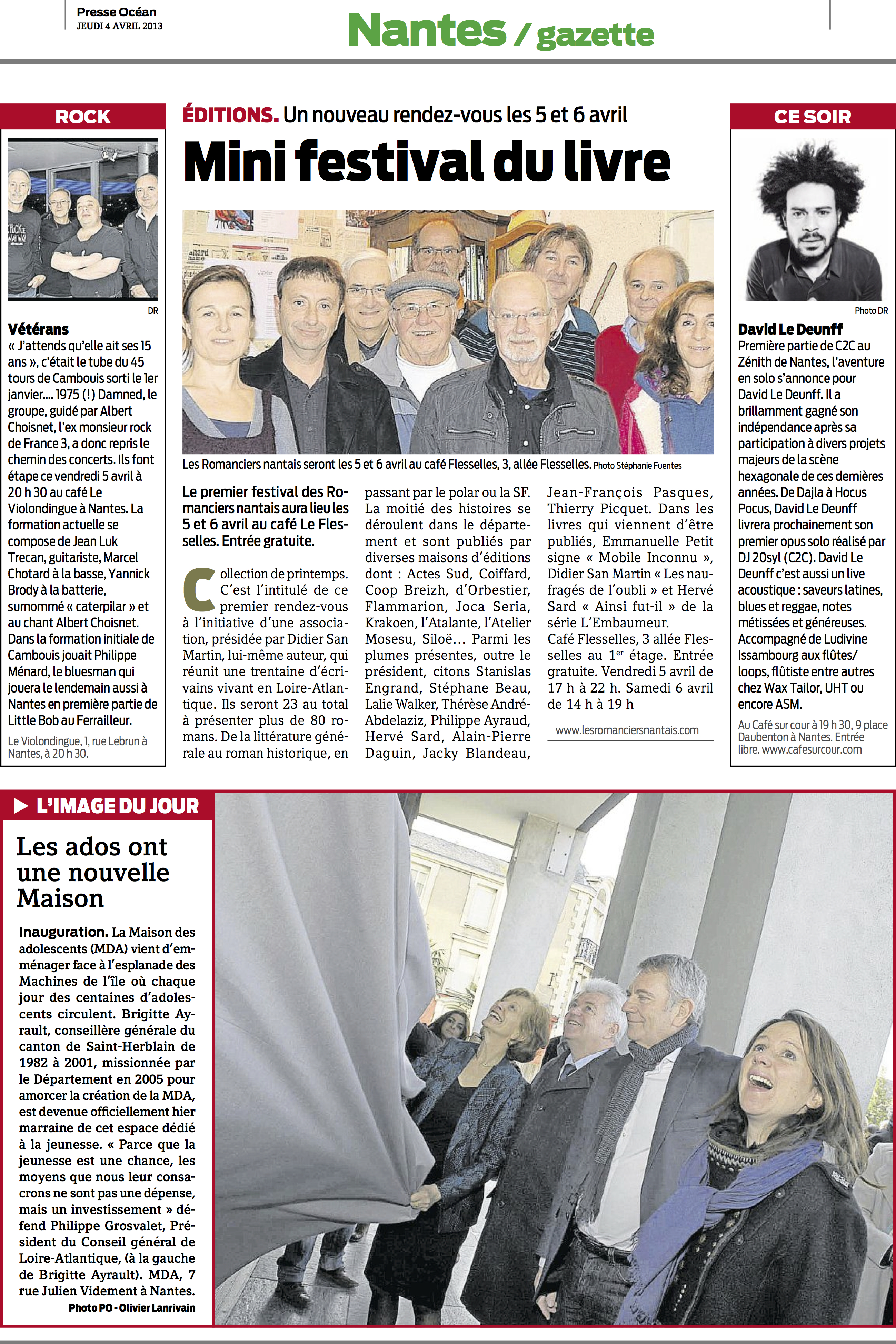 Presse Océan 4 avril 2013