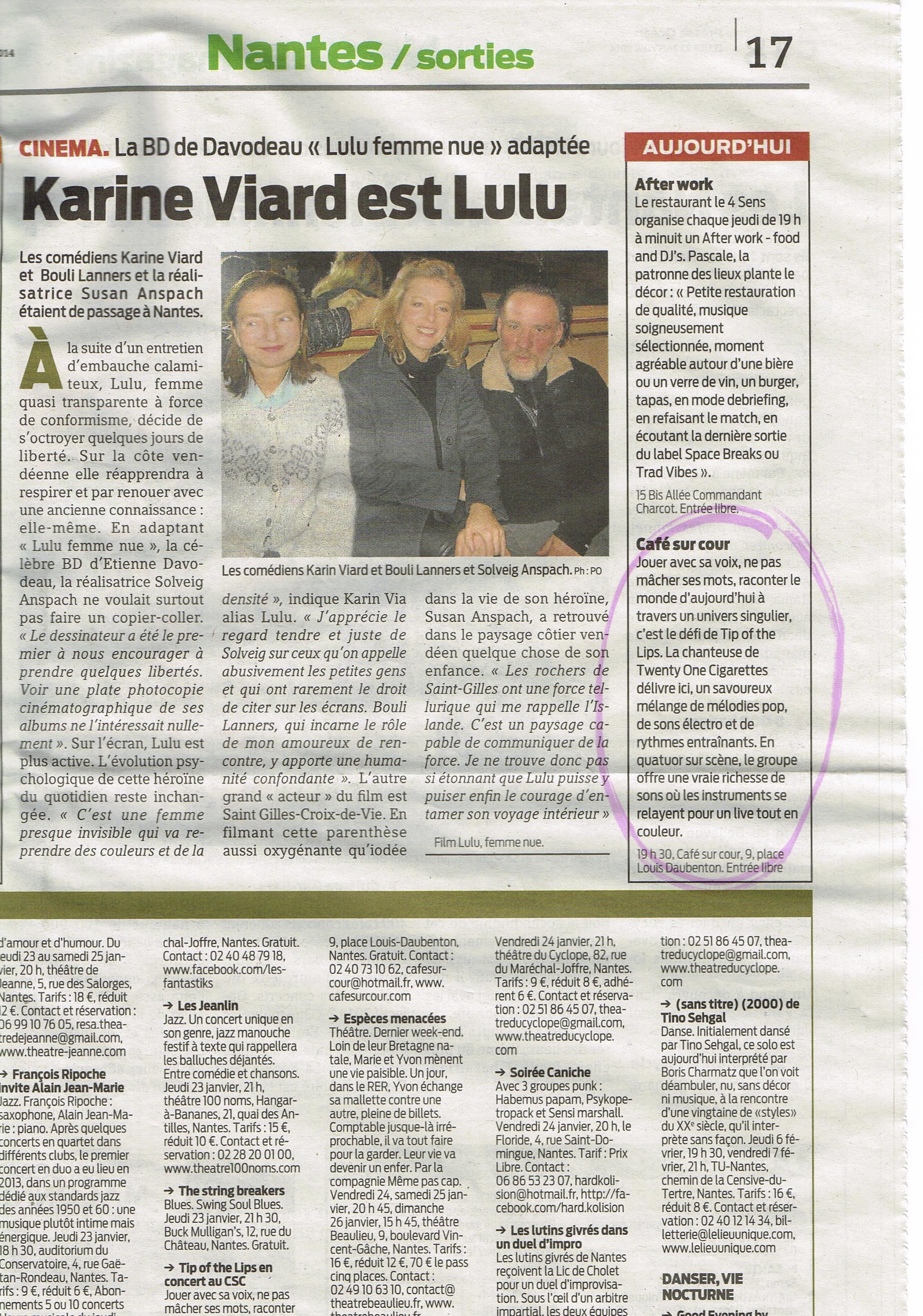 Presse Océan 23 jan 2014