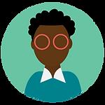 logo of mental health professional wearing glasses