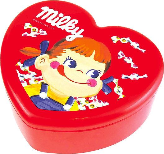 Fujiya Peko Heart-shape Jewelry Box Milky