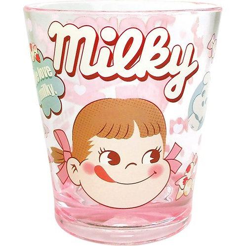 Fujiya Peko Color Crystal Cup - Milky Pink