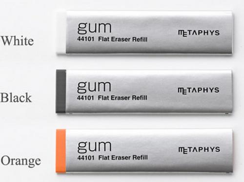 METAPHYS gum Flat Eraser Refill 15pcs