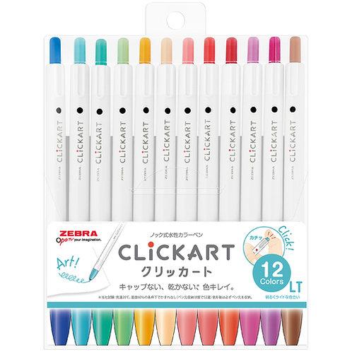 Zebra CLiCKART Water Color pen marker  12 colors set