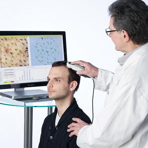 TrichoScan for hair growth analysis